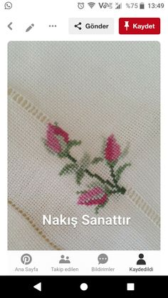 Learn Embroidery, Embroidery Fashion, Cross Stitch Embroidery, Hand Embroidery, Embroidery Designs, Cross Stitch Rose, Cross Stitch Flowers, Cross Stitch Designs, Cross Stitch Patterns