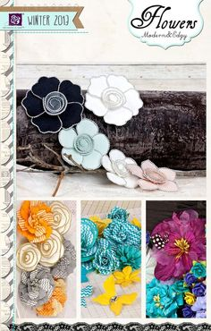 Some sneak peeks of CHA Winter 2013 products headed to Scrap-a-Doodle-Doo from Prima Scrapbook Paper Flowers, My Scrapbook, Scrapbook Layouts, Shabby Chic Boxes, Flower Crafts, Flower Wreaths, Paper Bouquet, Modern Love, Flower Tutorial