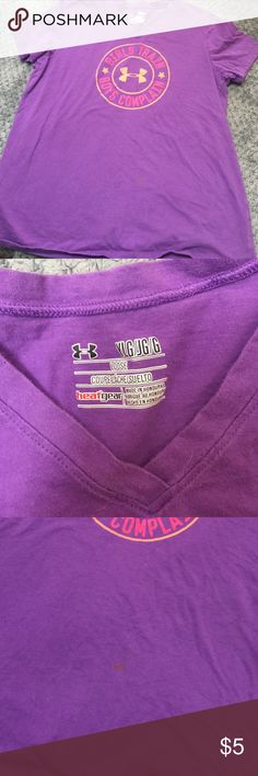 Girls Under Armour T Purple size XLG...small stain a shown Under Armour Shirts & Tops Tees - Short Sleeve