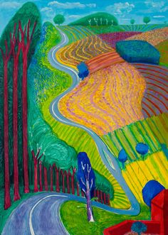 David Hockney review – sunshine superman