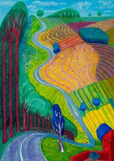 David Hockney review – sunshine superman