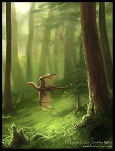 Jennifer Miller - Magical forest Dragon Hatchling Egg Baby Babies Cute Funny Humor Fantasy Myth Mythical Mystical Legend Dragons Wings Sword Sorcery Magic Art Fairy Maiden Whimsy Whimsical Drache drago dragon Дракон drak dragão