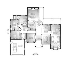 Mediterranean House Plan First Floor - 032D-0741   House Plans and More