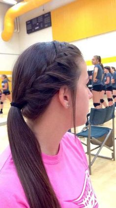 Sporty 68 best black braided hairstyles to copy in 2019 boxbraids boxbraidshairstyles sporty hairstyles lacrosse Braided Ponytail Hairstyles, Braided Hairstyles, Cool Hairstyles, Workout Hairstyles, Braided Cheer Hair, French Braid Ponytail, Teenage Hairstyles, Cute Volleyball Hairstyles, Cute Cheer Hairstyles
