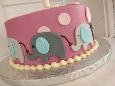 elephant gender revel cake