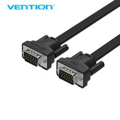 Vention VGA to VGA Flat Cable Male to Male Black Braided Shielding High Premium HDTV VGA Cable VAG-B05 #Affiliate