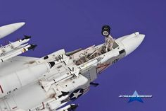 "McDonnell Douglas F-4B ""Phantom"" Kit 1/72 (JM Villalba) Ferrari 488, Model Airplanes, Scale Models, Fighter Jets, Aircraft, Tips, Blue, Ideas, Decor"