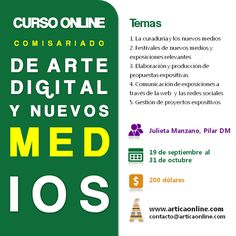 Comisariado de arte digital y nuevos medios. Curso online. Comienza el 19 de septiembre de 2012