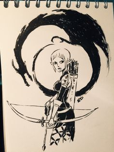 The only thing I drew at the con… Sera from Dragon Age: Inquisition.