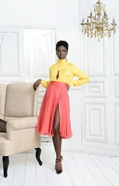 """Fall/Winter 2013-2014 """"Tropical sophistication"""" collection by Ella & Gaby (Nigeria)."""