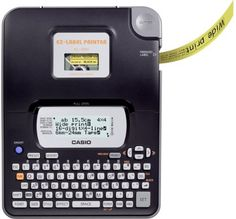 EZ-LABEL PRINTER by Casio. Save 11 Off!. $39.99. Display: 4 Lines / 16 DigitsQWERTY-KeyboardSupported label tape sizes: 6 / 9 / 12 / 18 / 24 mmPrinting speed: 6 mm/sec.Resolution: 200 dpi5 fonts (Sans-serif - Sans-serif Italic - Sans-serif Rounded - Roman - Roman Italic)Effects: Shading - Underline - Box248 Symbols and CharactersPrint Styles: Normal - Outline - Bold - Shadow - RaisedPrint PreviewNumber of lines: 1 (6 mm and 9 mm tapes) - 1 or 2 (12 mm tape) - 1 or 2 or 3 (18...