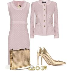A fashion look from August 2014 featuring St. John dresses, St. John jackets y Valentino pumps. Browse and shop related looks.