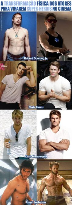 Superheroes actors - before after
