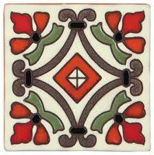 Traditional California Revival glazed deco tiles, also known as Malibu Tiles or Cuerda Seca Rangoli Patterns, Doodle Patterns, Mosaic Patterns, Pattern Art, Pottery Painting, Diy Painting, Vitromosaico Ideas, Paving Ideas, Floor Art