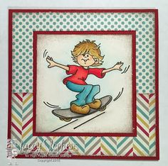 Gabriel love to Skateboard from High Hopes Rubber Stamps http://handstampedbylacey.typepad.com/my_weblog/2015/06/high-hopes-gabriel-loves-to-skateboard.html