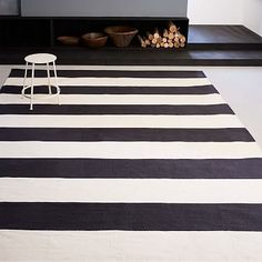 Bold Stripe Cotton Rug #westelm