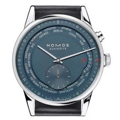 True Blue NOMOS Glashütte Zurich Worldtimer: A new vibrant dial and proprietary movement in the highly functional timepiece
