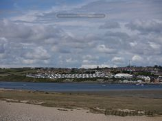View from Chesil beach over the Fleet towards Weymouth.