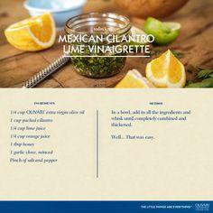 Cilantro lime vinaigrette recipe. yum!