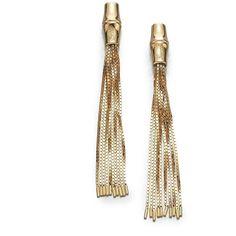 Gucci 18K Yellow Gold Tassel Drop Earrings
