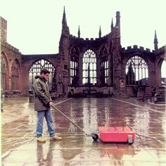 #throwback When Coventry Cathedral needed to explore the walls and vaults underneath their floor they turned to us.  We used non-intrusive means to undertake a Ground Probing Radar survey within the ruins of the old cathedral which had been severely damaged during World War Two and is now an international symbol of peace and reconciliation.