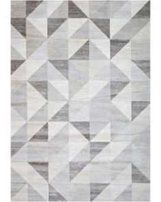 Silver Gray And White Modern Geometric Triangle Pattern