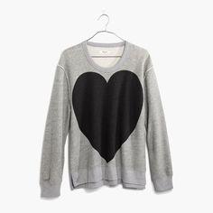 hint, hint – this Madewell heart sweatshirt is on my wishlist #giftwell