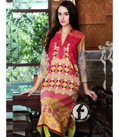Firdous Embroidered Lawn Kurtis Collection 2016 FF_06A