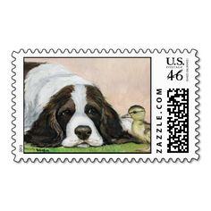 English Springer Spaniel DucklingPostage Stamp