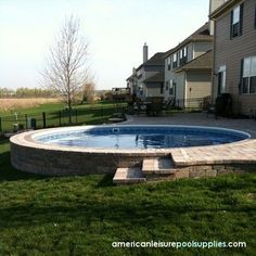 Above Ground Pool Landscaping - natureb4