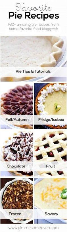 Favorite Pie Recipes | gimmesomeoven.com
