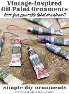 Vintage-inspired Oil Paint Ornaments - DIY Art Themed Ornaments