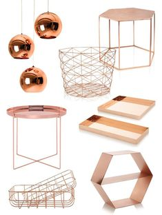 Wish List: Copper Furniture and Home Accessories Fashion Lab, . - Wish List: Copper Furniture and Home Accessories Fashion Lab, - Rose Gold Room Decor, Rose Gold Rooms, Cute Bedroom Ideas, Cute Room Decor, Gold Bedroom, Bedroom Decor, Copper Furniture, Rose Gold Marble, White Gold