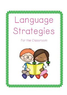 Building Language in the Classroom (Strategies) Language Development, Your Teacher, Speech And Language, Speech Therapy, Self Esteem, Teacher Resources, Save Yourself, Communication, Classroom