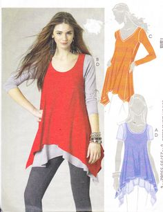 Womens Sewing Pattern Tunic and Tank Top by Sutlerssundries