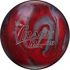 Track Mx05 Bowling Ball - (Free Shipping). Medium rev players can use a wider range of performing products and benefit from a variation of shiny and dull covers. The previous ball designed for medium rev players featured a dull cover and an aggressive ball motion, this introduction is a shiny skid flip ball that delivers great length and flip. The Mx05 is ideal for those with medium rev rates looking for the perfect match on medium oil patterns.