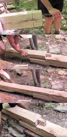 Timberframe Scarf joint / Mortise and Tenon by Mr Chickadee on YT https://www.youtube.com/watch?v=tT8ghjzEVeE