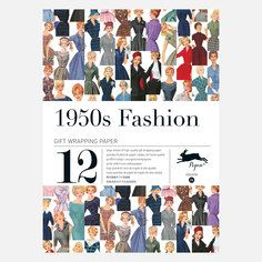 1950s Fashion Wrapping Paper, $14, now featured on Fab.