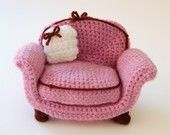 dusty rose amigurumi furniture