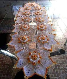 Table centerpiece crochet doily french decor - housewarming crochet rose gift for wife - rose table decoration crochet anniversary runner Crochet Dollies, Crochet Doily Patterns, Crochet Squares, Thread Crochet, Crochet Designs, Crochet Kitchen, Crochet Home, Love Crochet, Crochet Flowers