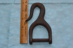 Vintage Old Forged Heavy Duty Cargo Tie Down Strap Hook Part End