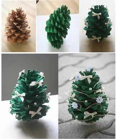 Pine Cone Crafts - Ideas for Pinecone Christmas Decorations - Country Living Christmas Tree Pictures, Pine Cone Christmas Tree, Winter Christmas, Christmas Time, Xmas Trees, Natural Christmas, Winter Trees, Merry Christmas, Pine Cone Crafts