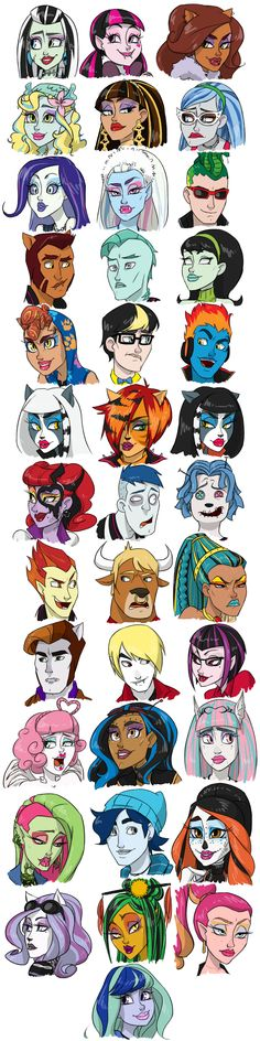 Monster Mash by thelivingmachine02.deviantart.com on @deviantART; I love their expressions