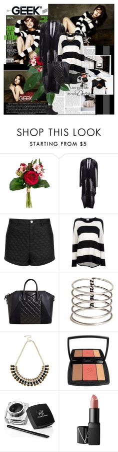 """""""Cherish your visions and your dreams as they are the children of your soul, the blueprints of your ultimate achievements."""" by rainie-minnie ❤ liked on Polyvore featuring Rick Owens, Topshop, Lala Berlin, Givenchy, Ann Demeulemeester, Oasis, NARS Cosmetics and Isabel Marant"""