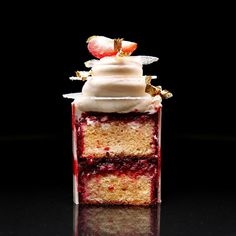 "2,051 Likes, 48 Comments - Dinara Kasko (@dinarakasko) on Instagram: ""Cupcake with cherry, tonka and white chocolate. Капкейк ""Пирожное"". И здесь будет рецепт в…"""