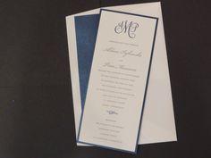 Letterpress.  Nautical theme. Invitationsbymarcy.com. Navy blue and cream with monogram. Invitationsbymarcy.com Bar Mitzvah Invitations, Wedding Invitations, Addressing Envelopes, Bat Mitzvah, Nautical Theme, Letterpress, Stationery, Navy Blue, Monogram