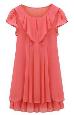 Gorgeous Ruffles Pleated Chiffon Dress