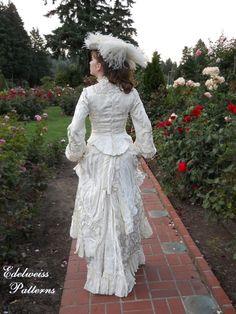 [Edelweiss Patterns Blog - Little House on the Prairie wedding dress]
