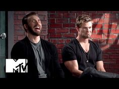 "Chris Evans & Chris Hemsworth Eat Doritos | MTV News - YouTube ""We have the human dorito in the house..."""