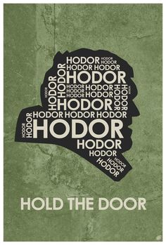 Game of Thrones Hodor Quote Poster by OutNerdMe on Etsy Game Of Thrones Westeros, Game Of Thrones Tv, Avenger, Fire Book, Marvel Quotes, Valar Morghulis, Typography Quotes, Minimalist Poster, Instagram Quotes